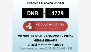 Medianeira: Veículo Gol é furtado em frente a colégio no Bairro São Cristóvão -