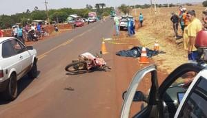 Morador de Missal morre em acidente entre duas motos na rodovia PR 495 -