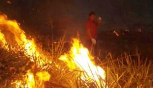 Incêndio ambiental já dura dois dias no interior de Matelândia e Ramilândia -