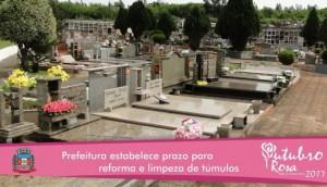 Prefeitura estabelece prazo para reforma e limpeza de túmulos -