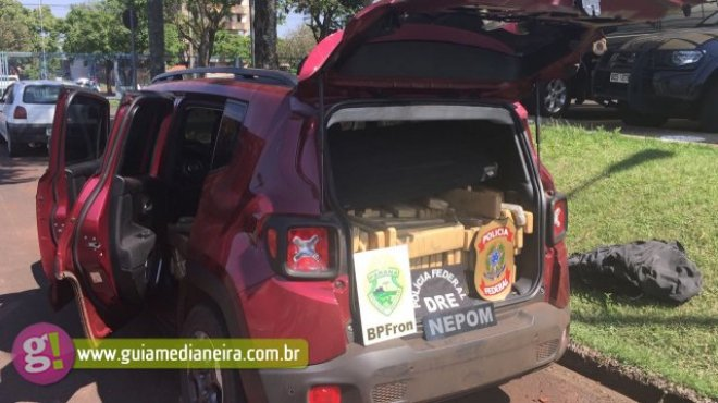 Medianeira: Polícia Federal apreende veículo carregado com maconha na BR 277 -