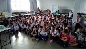 Programa Saúde na Escola desenvolve ações de saúde bucal com alunos da rede municipal -