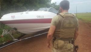 Itaipulândia: Barco, motor e veículo que haviam sido roubados são apreendidos pela Polícia Federal -