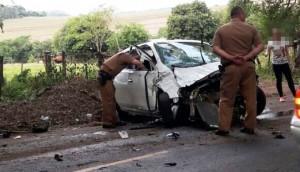 São Miguel: Motorista morre no hospital após colidir veículo em árvore na rodovia PR 497 -