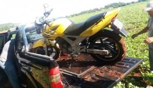 Itaipulândia: Moto com alerta de roubo é recuperada pela Polícia Militar -