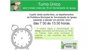Turno único será iniciado no dia 16 em Serranópolis -