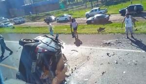 Céu Azul: Três óbitos são registrados em acidente na rodovia BR-277 -