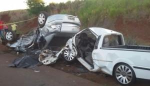 Medianeira: Grave acidente deixa uma pessoa morta e outras gravemente feridas na PR 495 -