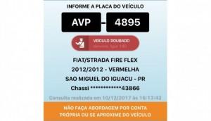 São Miguel: Fiat Strada é levada em assalto na Linha São Jorge -