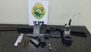 Medianeira: Armas, munições e objetos furtados são apreendidos pela Polícia Militar -