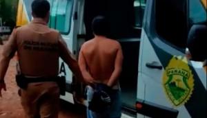 Polícia Militar de Medianeira cumpre mandado de prisão no Bairro Ipê -