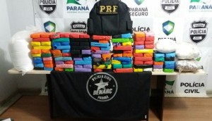 PRF e DENARC realizam grande apreensão de droga em Céu Azul/PR -