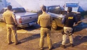 Matelândia: Após perseguição, PRF e Polícia Militar recuperam duas caminhonetes furtadas -