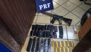 Céu Azul: PRF apreende fuzil, mil munições e 400 quilos de maconha -