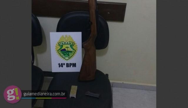 PM realiza grande apreensão de armas de fogo