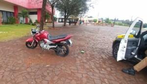 Medianeira: Polícia Militar recupera moto com queixa de furto/roubo -