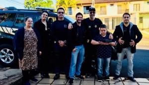 Foz do Iguaçu: Policiais fazem surpresa em aniversário de menino que é fã da Polícia Federal -