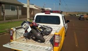 São Miguel: Moto irregular é apreendida pela PM após condutor causar acidente e fugir -