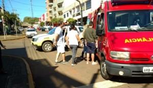 Casal é atropelado no centro de São Miguel do Iguaçu -
