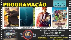 Cine Sul Cinemas: Confira a programação desta semana e as novidades especiais para você -