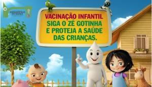 Campanha de vacinação contra Paralisia Infantil e Sarampo será neste sábado em Serranópolis -