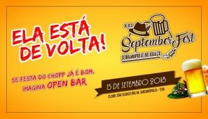 Se festa do Chopp já é bom, imagina Open Bar: 15 de Setembro tem a XXI SeptemberFest -