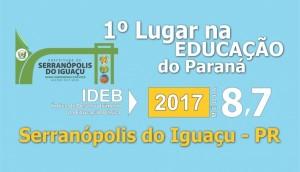Serranópolis conquista o 1º lugar no Paraná com nota de 8,7 no IDEB -