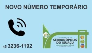 Serranópolis: Central Telefônica da Prefeitura está com problema. Novo número foi disponibilizado -