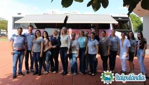 Atenção mulheres! O Ônibus Lilás chegou em Itaipulândia -