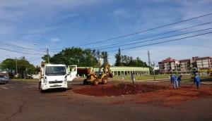 Medianeira: Rotatória central é retirada para implementação de semáforo -