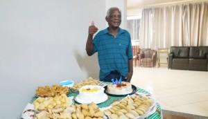 Aos 104 anos, morador do Lar dos Idosos de São Miguel do Iguaçu ganha festa de aniversário -