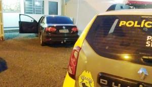 Carro tomado em assalto é recuperado pela PM nas margens da BR-277 em São Miguel do Iguaçu -