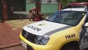 Medianeira: Indivíduo é preso pela PM após tentar derrubar portão de residência no B. São Cristóvão -