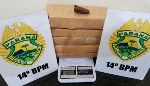Medianeira: 4 kg de maconha são apreendidos pela Polícia Militar e passageiro de ônibus é preso -