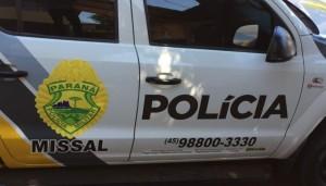 Missal: Homem é preso pela PM após quebrar móveis, ameaçar e agredir ex-mulher -
