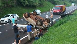 Acidente deixa um morto e um ferido na BR 277, em São Miguel do Iguaçu -