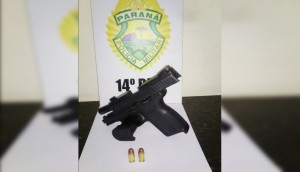 Medianeira: PM detém homem por posse irregular de arma de fogo em abordagem -