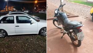 Medianeira: PM apreende carro e moto que eram conduzidos por pessoas sem habilitação -