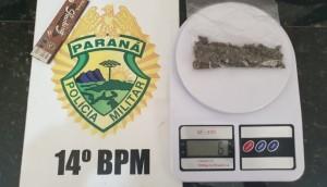 Medianeira: PM detém indivíduo que foi flagrado fumando maconha no B. Jardim Irene -