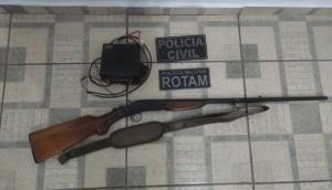 Agro Cafeeira: Arma e rádio comunicador são apreendidos em ação da ROTAM e Polícia Civil -