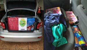 São Miguel: PM apreende veículo com contrabando -