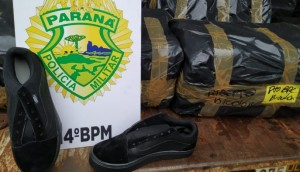 São Miguel: PM apreende calçados por suspeitas de falsificação -