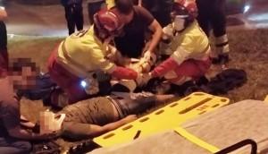 Matelândia: Duas pessoas ficaram feridas em acidente envolvendo carro e moto -