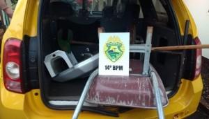 Polícia Militar de Missal recupera objetos furtados em Itaipulândia -