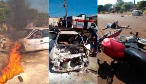 Itaipulândia: Cenas de resgate de 'vítimas' e mobilização de ambulâncias e socorristas assustam moradores -