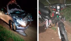 Homem morre após colisão de moto com veículo na rodovia PR 495 em Missal -