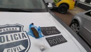 Polícia Civil e Militar de Matelândia localizam drogas durante apuração de denúncia 181 -