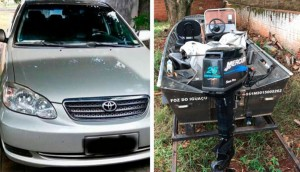 Matelândia: Corolla e barco foram levados durante assalto -