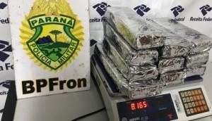 Medianeira: 8 kg de maconha são apreendidos com menor na Operação Hórus -