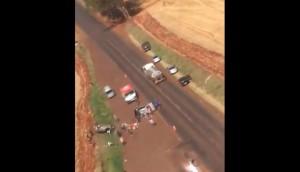Seis pessoas ficam feridas em acidente na PR 488 em Vera Cruz do Oeste -